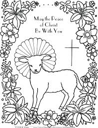 Christian Easter Coloring Pages Coloring For Babies Amvame