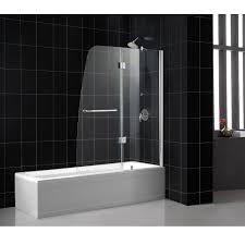 unconditional bathtub shower doors dreamline shdr 3148586 01 aqua tub door 48 x 58 clear glass chrome