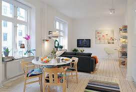 small scale furniture for apartments. impressive dining space with round table and charming wooden chairs small scale furniture for apartments