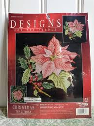 Poinsettia Designs Poinsettia Counted Cross Stitch Kit By Designs For The Needle Leisure Arts Christmas Cross Stitch Kit