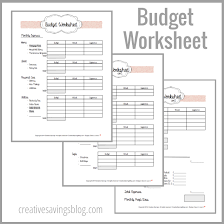 building a home budget building your first budget worksheets budgeting and creative