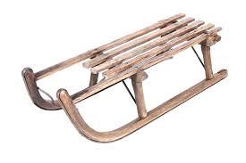 antique wooden sled vintage old sledge early flexible flyer snow diy torpedo toboggan sleigh a