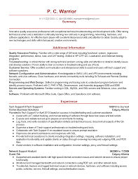 Pleasant Resume Technical Support Analyst With Additional