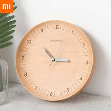 Hot Promo #5457c - Original Xiaomi Wooden Wall Clocks Mute ...
