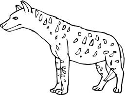 Gevlekte Hyena Of Tasmaanse Tijger Kleurplaat Gratis Kleurplaten