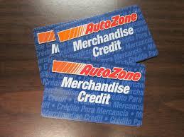 autozone gift card merchandise credit balance 202 00 1 of 1