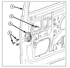 what are the steps to install a actuator on a dodge ram  graphic disconnect the door wire harness