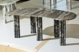 sculptural marble dining table lorenzo