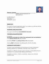 Download Sample Resume For Freshers In Word Format New Beautiful