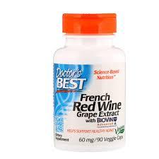<b>Экстракт французского красного винного</b> сорта винограда, 60 мг ...