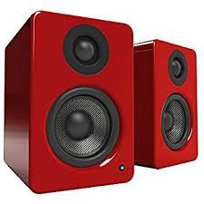 speakers red. kanto yu2 powered desktop speakers \u2013 3\ red r