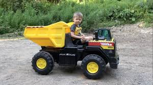 tonka ride on mighty dump truck for kids