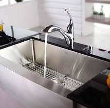stylish 36 inch stainless steel sink kraus khf20036 36 inch farmhouse a single bowl kitchen sink