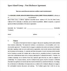 Nda Non Compete Template 13 Non Compete Agreement Templates Docs Pdf Word Free