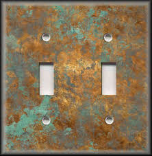 image is loading lightswitchplatecoverimageofagedcopper copper light switch plates g93