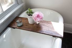 rustic wood bathtub tray walnut bath tub caddy whiskyginger