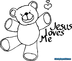 Jesus Loves Me Coloring Page Pdf With Religious Pages Free Printable