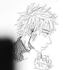 菊波キクナミ On Twitter イラスト 手描き 絵 男 髪型 横顔