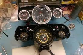 how to renew the 1960 corvette gauge cluster the world s most famous 57 chevy get s custom gauges from classic instruments