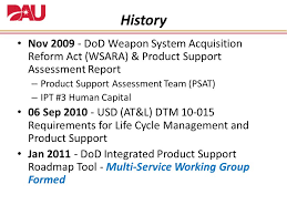 Dod Integrated Product Support Roadmap Tool Ppt Video