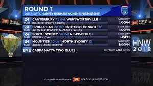 all the results and scorers from the opening weekend of the 2018 nswrl harvey norman women s premiership