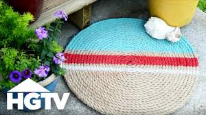 How to Make a <b>Jute</b> Rope <b>Rug</b> - HGTV - YouTube