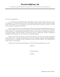 New Nurse Cover Letter New Graduate Nurse Cover Letter Enomwarbco