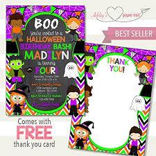 Amazon Com Halloween Costume Party Birthday Invitation