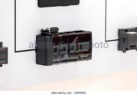 fuse box fuse stock photos fuse box fuse stock images alamy fuse box automatic fuses for installation note shallow depth of field stock