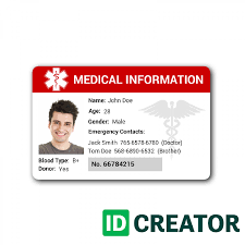 identity card template word free custom id card templates by idcreator make id badges