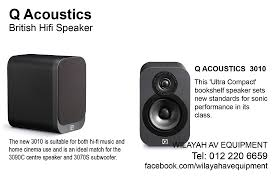 Q Acoustics 3010 is the smallest bookself speaker in the Q Acoustics 3000  series. Its ideal for a small room and recommeded for home theater system  surround ...