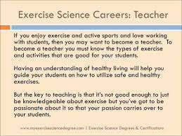 Careers With Exercise Science Degree Careers In Exercise Science Magdalene Project Org