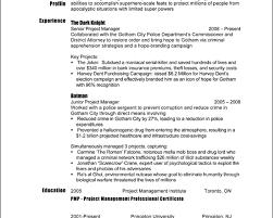 Film Resume Samples