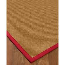 wool sisal area rug naturalarearugs majesty woolsisal area rug 4 x 6 red border com wool sisal area rugs