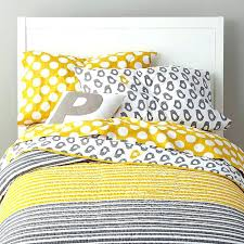 yellow and grey bedspread kids bedding p the land of nod not a fresh gray chevron
