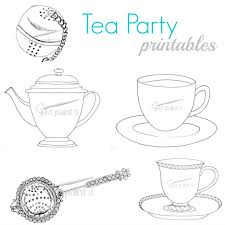 Printable Tea Party Coloring Pages Midamericasymposium