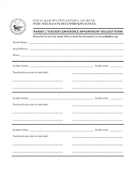 student conference form student contact form template