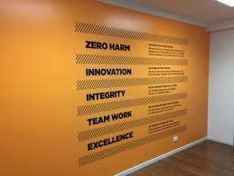 Interior Design Vision And Mission Company Values Corporate Office Decor Office Branding