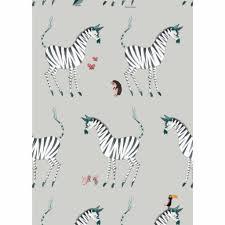 Behang Zebra Grijs Fiep Westendorp Kinderboekenkado