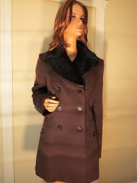 nwt womens authentic burberry prorsum brown wool cashmere fur coat jacket 12 14