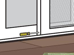 image titled remove a sliding screen door step 03