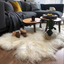 100 genuine l icelandic white sheepskin rug quad throw pelt long 24cm wool