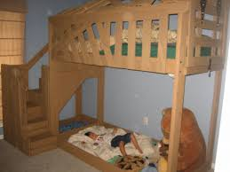 bunk bed with stairs plans. Remarkable Design Diy Kids Loft Plus Plans Room Decors For Beds Congenial  Full Size Frame Splendiferous Build Your Own Free Bunk With Storage Desk L Shaped Bunk Bed With Stairs Plans K