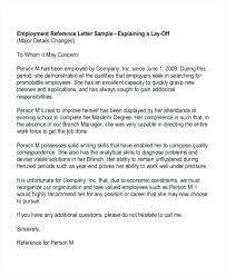 Referral Letter For Employment Recommendation Letter Template Word Reference For Employee Sample