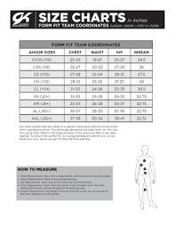 Gk Elite Size Chart Fillable Online Form Fit Team Coordinates Gk Elite Fax