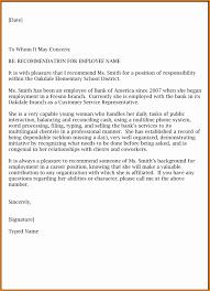 example of re mendation letter for job job re mendation letter template 9