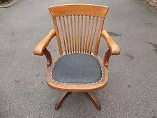 antique wooden office chair. antique oak swivel u0026 tilt captainu0027s office desk chair good condition wooden