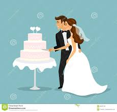 cutting the wedding cake clipart. Contemporary Clipart Download Just Married Couple Cutting Wedding Cake Stock Illustration   Of Background Married In The Clipart O