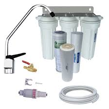 Under Sink Filter Systems Complete Triple Under Sink Water Filter System With Sediment
