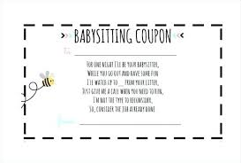 fun voucher template free babysitting coupon template exclusive the best ideas on of